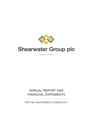 Shearwater Group (Previously Aurum Mining) annual report 2017