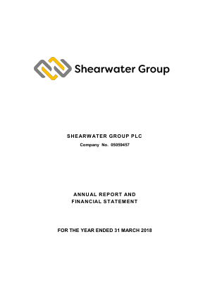Shearwater Group (Previously Aurum Mining) annual report 2018