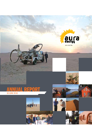 Aura Energy annual report 2016