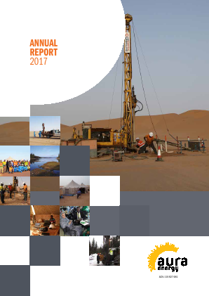 Aura Energy annual report 2017