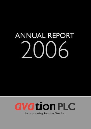 Avation Plc annual report 2006