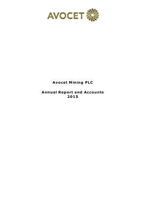 Avocet Mining annual report 2015