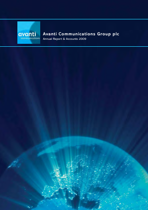 Avanti Communications Group Plc annual report 2009