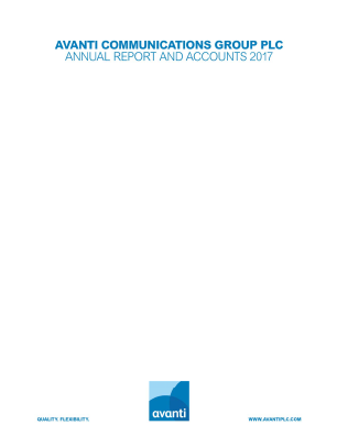 Avanti Communications Group Plc annual report 2017