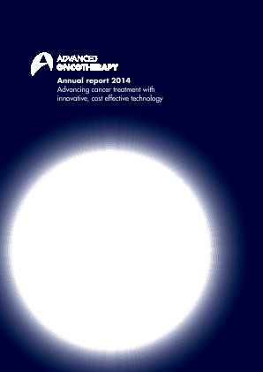 Advanced Oncotherapy Plc annual report 2014