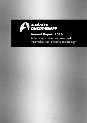Advanced Oncotherapy Plc annual report 2016