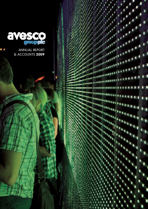 Avesco Group Plc annual report 2009