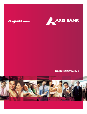 Axis Bank annual report 2012