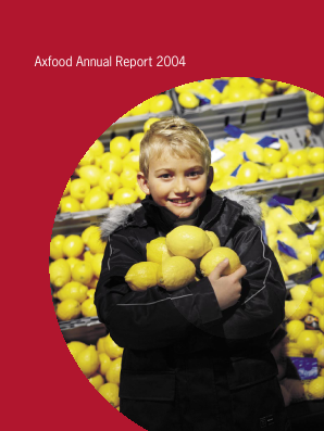 Axfood annual report 2004