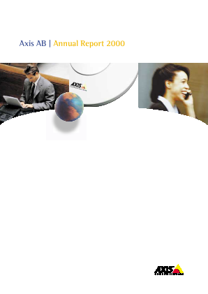 Axis annual report 2000