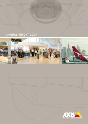 Axis annual report 2007