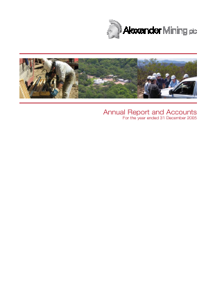 Alexander Mining annual report 2005