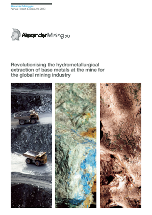 Alexander Mining annual report 2013