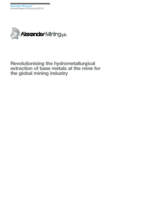 Alexander Mining annual report 2014
