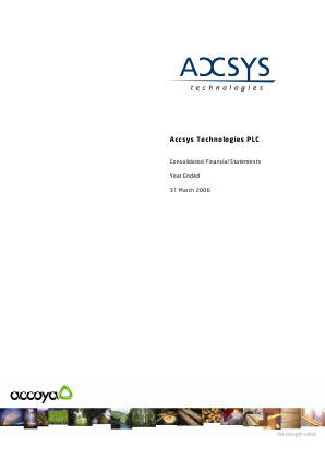 Accsys Technologies annual report 2006