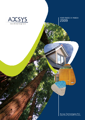 Accsys Technologies annual report 2009