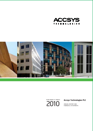 Accsys Technologies annual report 2010