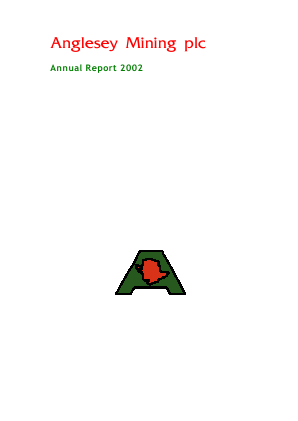 Anglesey Mining annual report 2002