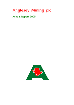 Anglesey Mining annual report 2005