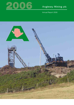 Anglesey Mining annual report 2006