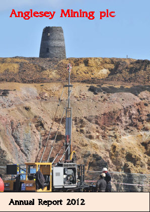 Anglesey Mining annual report 2012