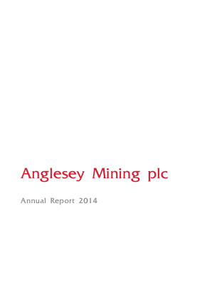 Anglesey Mining annual report 2014