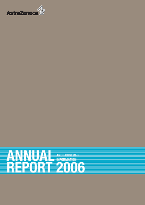 AstraZeneca annual report 2006