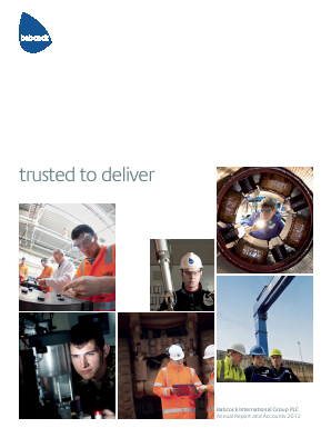 Babcock International Group Plc annual report 2012