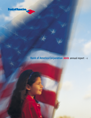 Bank of America Corp. annual report 2001