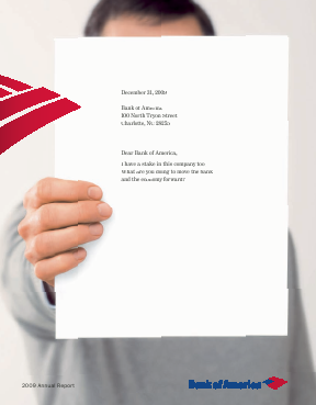 Bank of America Corp. annual report 2009