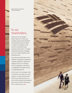 Bank of America Corp. annual report 2015