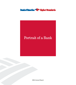 Bank Of America Corp annual report 2004