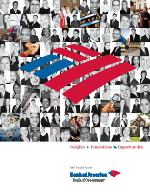 Bank Of America Corp annual report 2007