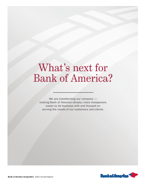 Bank Of America Corp annual report 2011