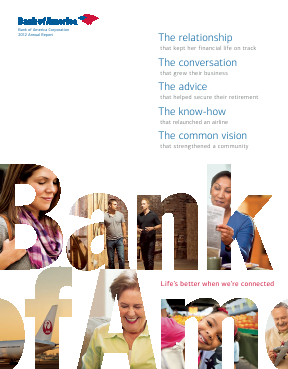 Bank Of America Corp annual report 2012