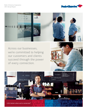 Bank Of America Corp annual report 2014