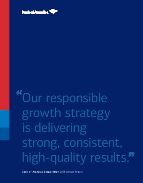Bank Of America Corp annual report 2016