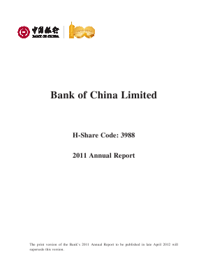 Bank of China annual report 2011