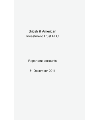 British & American Investment Trust annual report 2011