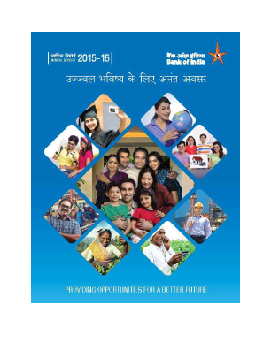 Bank of India annual report 2016