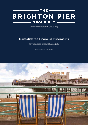 Brighton Pier Group (formally Eclectic Bar Group) annual report 2016