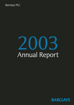 Barclays Plc annual report 2003