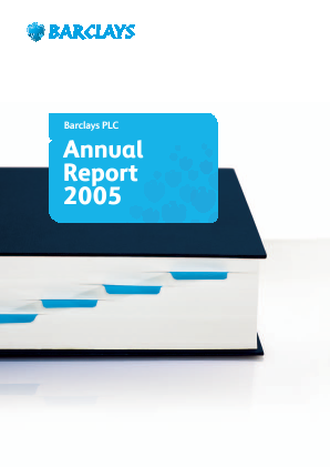 Barclays Plc annual report 2005