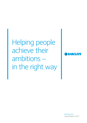 Barclays Plc annual report 2014