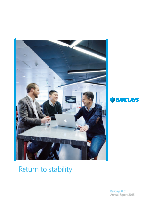Barclays Plc annual report 2015