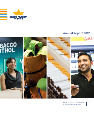 British American Tobacco annual report 2012