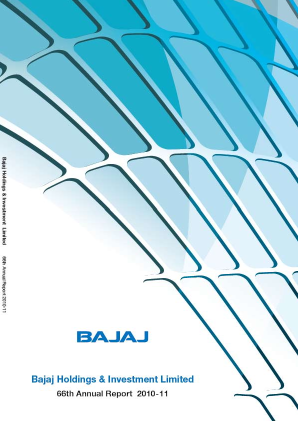 Bajaj Holdings & Investment annual report 2011