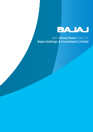 Bajaj Holdings & Investment annual report 2013