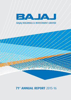 Bajaj Holdings & Investment annual report 2016