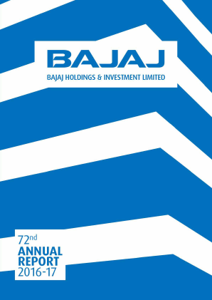Bajaj Holdings & Investment annual report 2017